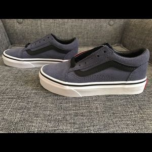 Kids Blue Suede Vans New With Tags(not even laced)